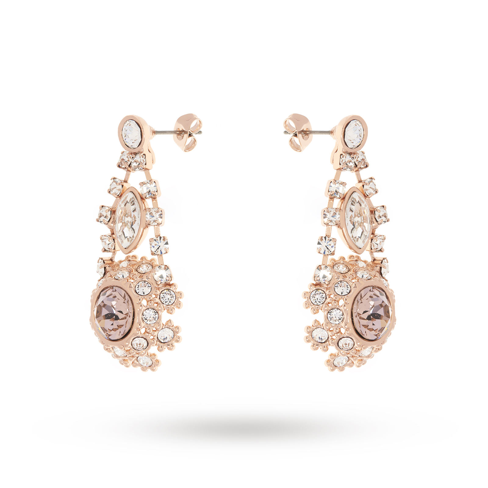 Ted Baker Crystal Daisy Lace Drop Earrings
