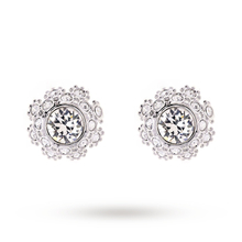Ted Baker Seraa Silver Swarovski Crystal Daisy Lace Stud Earrings
