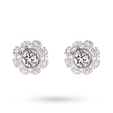 For Her - Ted Baker Seraa Silver Crystal Daisy Lace Stud Earrings - TBJ1584-01-02