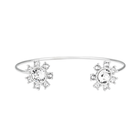 Ted Baker Daisy Silver Clockwork Crystal Bangle