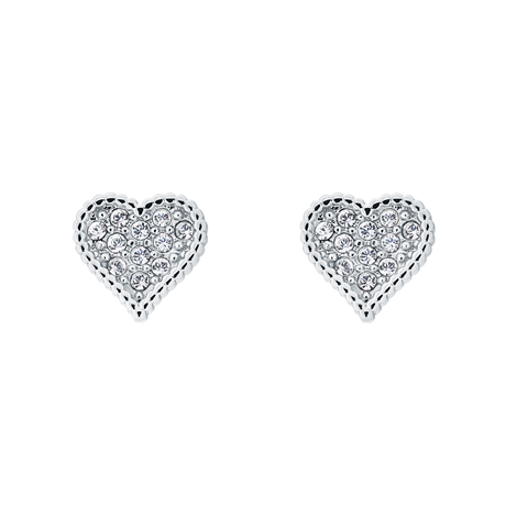 Ted Baker Hidden Heart Silver Crystal Stud Earrings