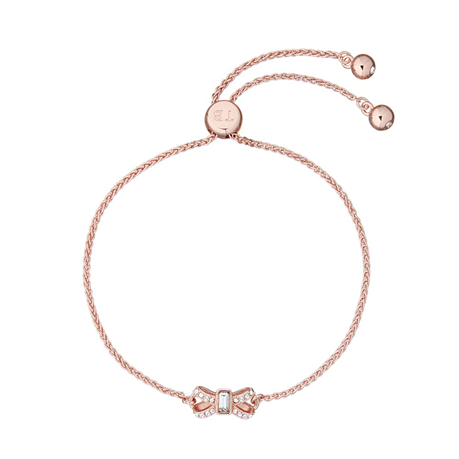 Ted Baker Rose Gold Coloured Sparkle Bow Bracelet