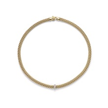 FOPE 18ct Yellow Gold Vendome 0.10ct Diamond Necklace