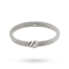 FOPE 18ct White Gold Vendome Flex'It 0.13ct Diamond Bracelet