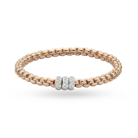 Fope 18ct Rose Gold Exclusive Flex'It Olly 0.50ct Diamond Bracelet