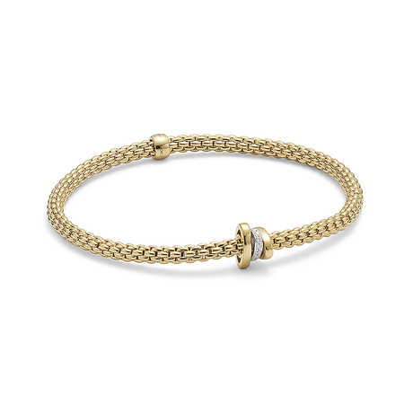 Fope 18ct Yellow Gold Flex'it Prima Bracelet