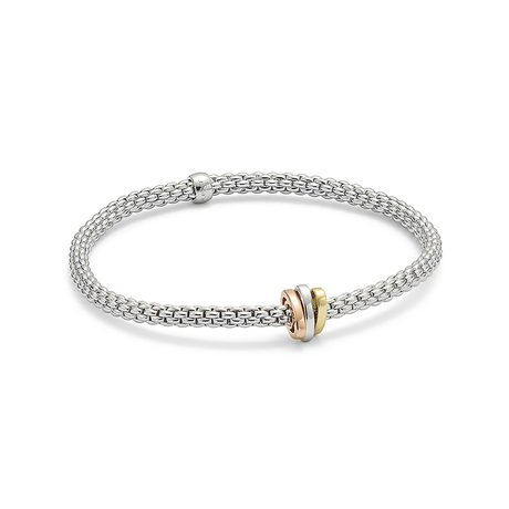 Fope 18ct Tri Tone Flex'it Prima Bracelet