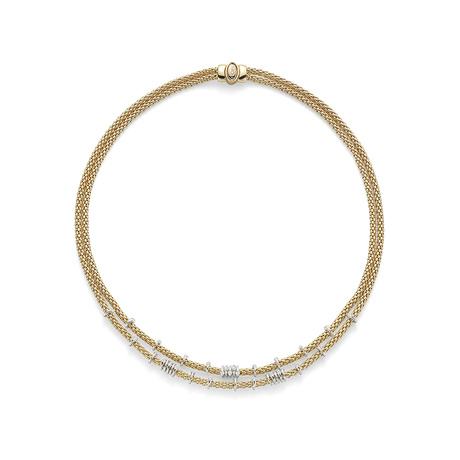 Fope 18ct Yellow Gold Flex'it Prima Eyes Double Necklace