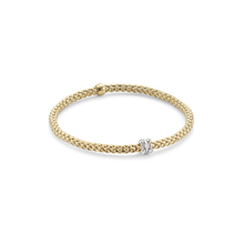 Fope Flex'it Yellow Gold Diamond Prima Bracelet- Size Medium