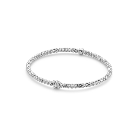 Fope Flex'it White Gold Diamond Prima Bracelet- Size Medium