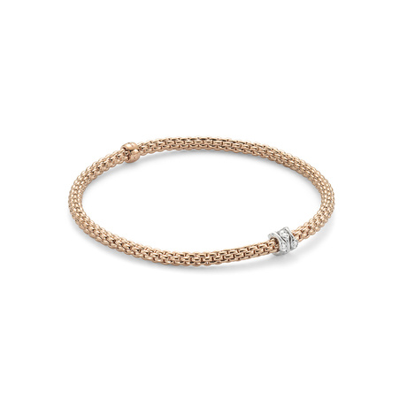 Fope Flex'it Rose Gold Diamond Prima Bracelet- Size Medium