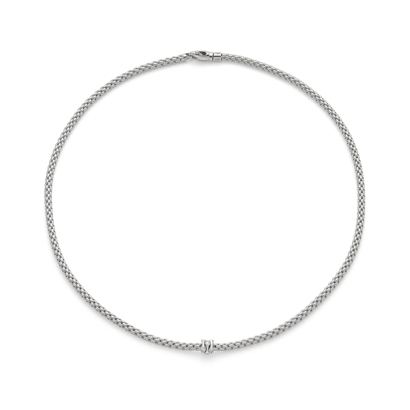Fope Flex'it Prima White Gold Diamond Necklace
