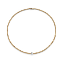 Fope Flex'it Prima Yellow Gold Diamond Necklace