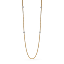 Fope Flex'it Prima Yellow Gold Diamond Long Necklace