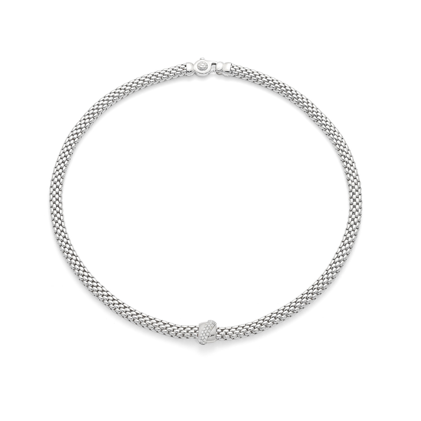 Fope Flex'it Vendome White Gold Diamond Necklace