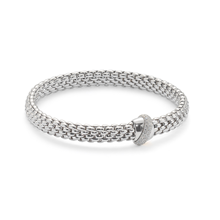 Fope Flex'it Vendome White Gold Diamond Bracelet - Size Medium