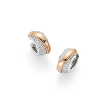 Fope Flex'it Vendome Rose Gold Diamond Earrings