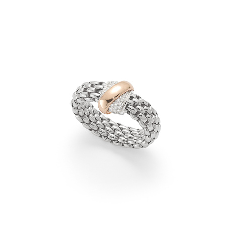 Fope Flex'it Vendome White Gold Diamond - Ring Size Medium