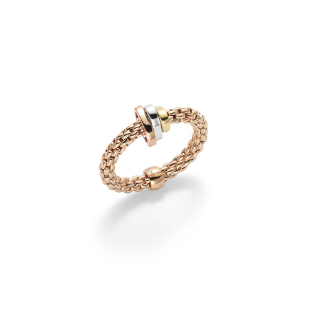 Fope Flex'it Prima Rose Gold Ring Size Medium