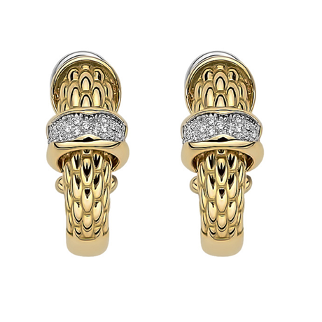 Fope 18ct Yellow Gold Love Nest Diamond Earrings