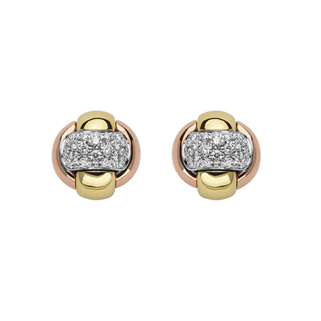 Fope 18ct Gold Eka Tiny Diamond Stud Earrings