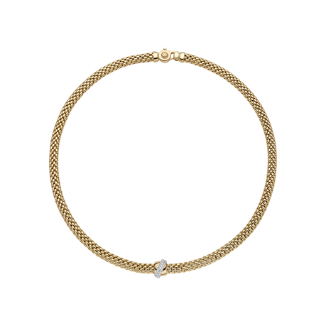Fope 18ct Yellow & White Gold Flex'it Vendome Necklace