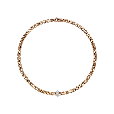 Fope 18ct Rose & White Gold EKA Necklace