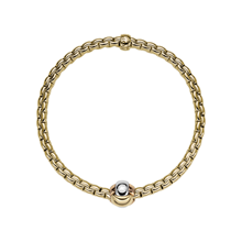 Unisex - Fope 18ct Yellow Gold EKA Tiny Bracelet - 738BS
