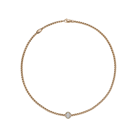 Fope 18ct Rose Gold EKA Tiny Necklace