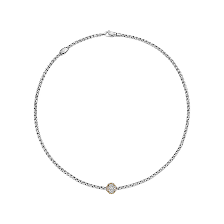 Fope 18ct White Gold EKA Tiny Necklace