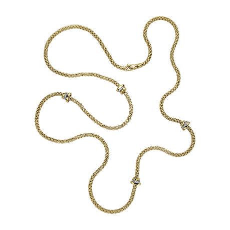 Fope 18ct Yellow & White Gold Flex'it Prima Necklace