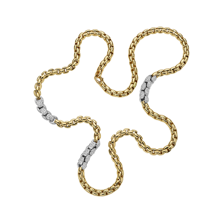 Fope 18ct Yellow & White Gold Eka MiaLuce Necklace