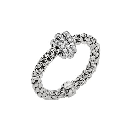 Fope 18ct White Gold Flex'it Prima Ring