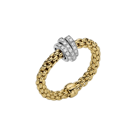Fope 18ct Yellow & White Gold Flex'it Prima Ring