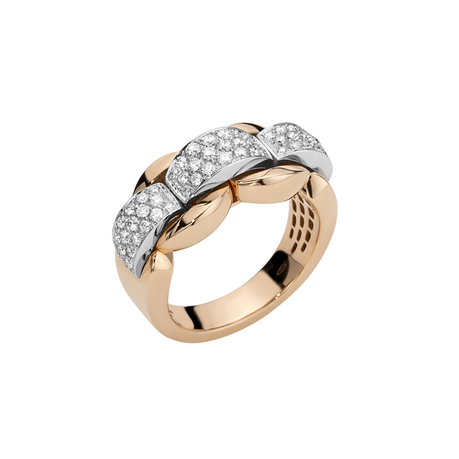 Fope 18ct Rose & White Gold Nova Ring