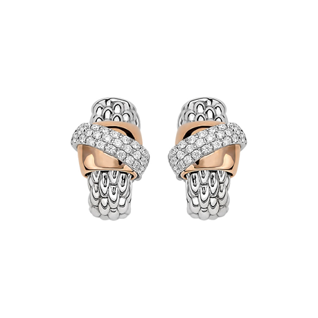 Fope 18ct White Gold Flex'it Vendome Earrings