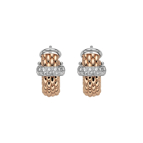 Fope 18ct Rose & White Gold Flex'it Vendome Earrings