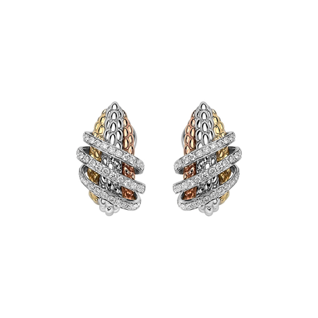 Fope 18ct Tri Colour Gold Solo MiaLuce Earrings