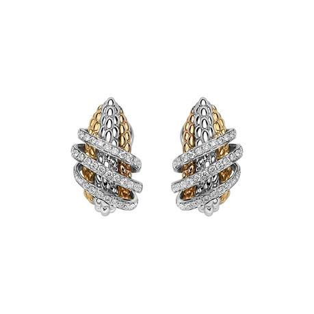 Fope 18ct Yellow & White Gold Solo MiaLuce Earrings
