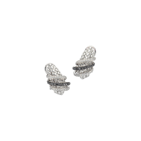 Fope 18ct White Gold Solo MiaLuce Earrings