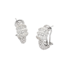 Fope 18ct White Gold Flex'it Solo Earrings