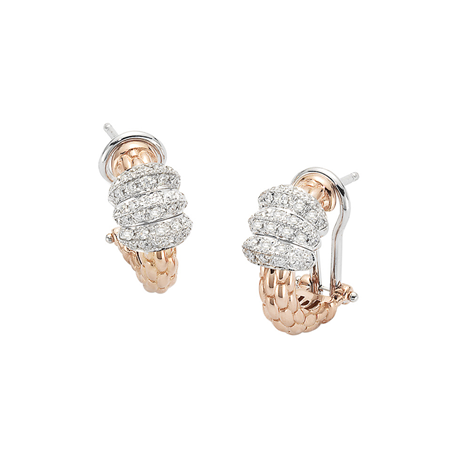 Fope 18ct Rose & White Gold Flex'it Solo Earrings