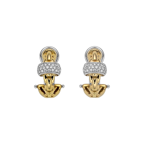 Fope 18ct Yellow & White Gold EKA Earrings