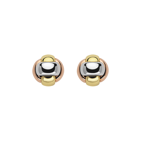 Fope 18ct Tri Colour Gold EKA Tiny Earrings
