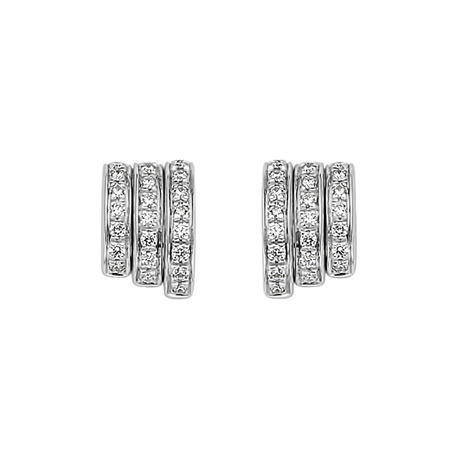 Fope 18ct White Gold Flex'it Prima Earrings