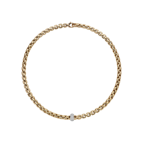 Fope 18ct Yellow & White Gold Diamond EKA Necklace