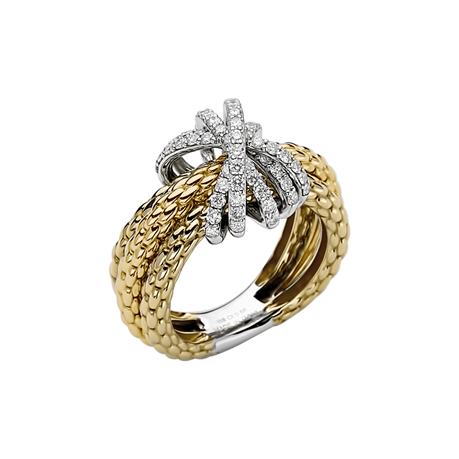 Fope 18ct Yellow Gold Diamond MiaLuce Ring