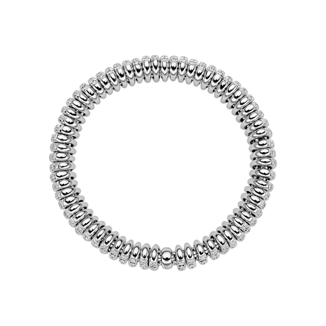Fope 18ct White Gold Diamond Vendome Bracelet