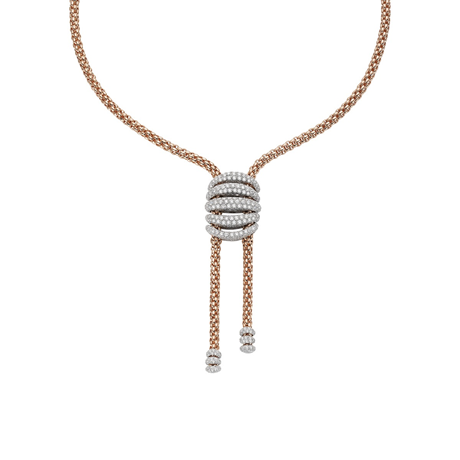 Fope 18ct Rose & White Gold MiaLuce Necklace