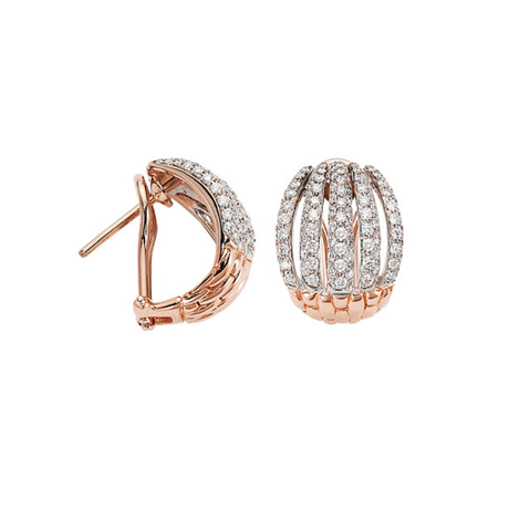 Fope 18ct Rose & White Gold MiaLuce Earrings